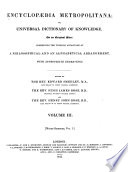 Encyclopaedia Metropolitana  Or  Universal Dictionary of Knowledge