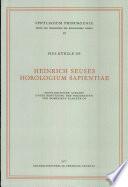 Heinrich Seuses Horologium sapientiae