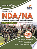 NDA  NA 11 years Topic wise Solved Papers  2006   2016  4th Edition