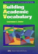 Building Academic Vocabulary