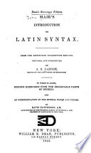 Mair s Introduction to Latin Syntax
