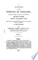 A Synopsis of the Peerage of England