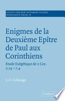 Enigmes Dme Paul Corinthi