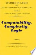 Computability  Complexity  Logic