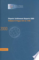 Dispute Settlement Reports 2000  Volume 2  Pages 573 1185