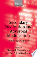 Secondary Predication and Adverbial Modification Perspective It Maps Out All The