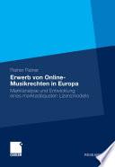 Erwerb von Online Musikrechten in Europa