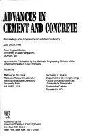 Advances in cement and concrete