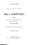 download ebook landscapes of interesting localities mentioned in the holy scriptures, engraved ... by w. and e. finden; with historical and descriptive narratives by i. m. w. pdf epub