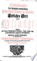 Geschlechtsregister der Reichsfrey unmittelbaren Ritterschaft Landes zu Franken löblichen Orts an der Altmühl