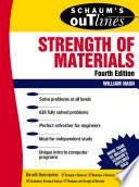 Schaum s Outline of Strength of Materials