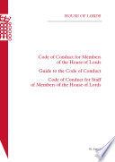 HL 5 Code Of Conduct For Members Of The House Of Lords Guide To The Code Of Conduct Code Of Conduct For Staff Of Members Of The House Of Lords