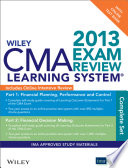Wiley CMA Learning System Exam Review 2013  Complete Set  Online Intensive Review   Test Bank