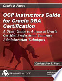 OCP Instructors Guide for Oracle DBA Certification
