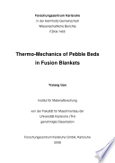 Thermo mechanics of pebble beds in fusion blankets