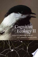 Cognitive Ecology Ii book