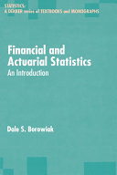 Financial and Actuarial Statistics