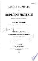 Leçons de médecine mentale à la Salpêtrière