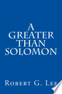 A Greater Than Solomon