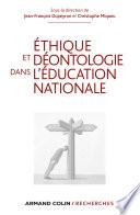 Ethique et d  ontologie dans l Education nationale