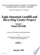 Eagle Mountain Landfill and Recycling Center Project, Riverside County