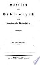 Katalog der Bibliothek des Landkapitels Stiefenhofen