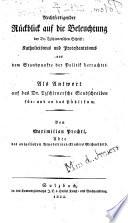 Rechtfertigender Rückblick auf die Beleuchtung der Dr. Tzschirnerschen Schrift: Katholicismus und Protestantismus aus dem Standpunkte der Politik betrachtet