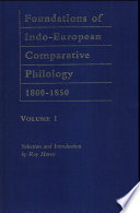 Foundations of Indo-European comparative philology 1800-1850: Über das Conjugationssystem der Sanskritsprache. Über die celtischen Sprachen