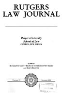 Rutgers Law Journal