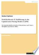 Portfoliotheorie II  Einf  hrung in das Capital Asset Pricing Model  CAPM