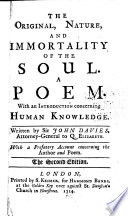 The Original, Nature And Immortality Of The Soul : ...