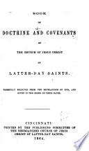 Book of Doctrine and Covenants of the Church of Jesus Christ of Latter day Saints
