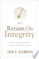 Return on Integrity