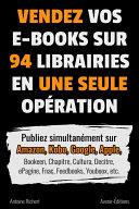Vendez vos e books sur 94 e librairies en une seule op  ration