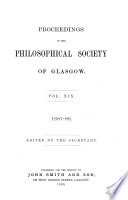 Proceedings of the Royal Philosophical Society of Glasgow Book PDF