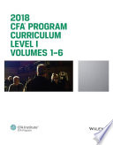 CFA Program Curriculum 2018 Level I