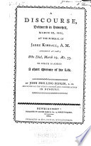 A Discourse Delivered in Haverhill  March 22  1805