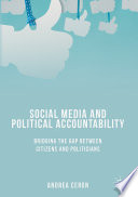 Social Media And Political Accountability book