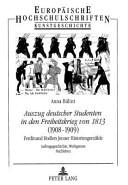 Auszug deutscher Studenten in den Freiheitskrieg von 1813 (1908-1909)