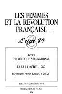 Les Femmes et la Révolution française: L'effet 89