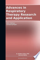 Ebook Advances in Respiratory Therapy Research and Application: 2011 Edition Epub N.A Apps Read Mobile