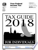 Tax Guide 2018 For Individuals Publication 17 For Use In Preparing 2018 Returns