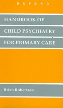 Handbook of Child Psychiatry for Primary Care