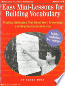 Easy Mini lessons for Building Vocabulary