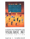 An Introduction to Programming Using Visual Basic  NET