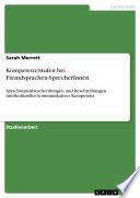 Kompetenz-Stufen bei Fremdsprachen-SprecherInnen