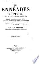 Les Enn  ades de Plotin