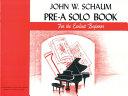 Pre A Solo Book Book PDF