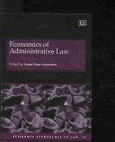 Economics of Administrative Law