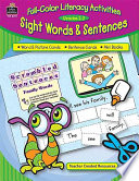 Full color Literacy Activities for Sight Words   Sentences